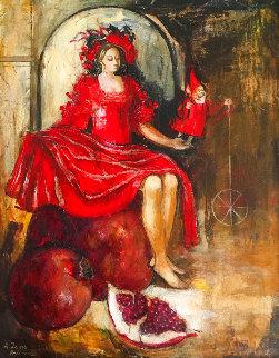 Goddast of Fertility #3 34x28 Original Painting - Laura Avetisyan