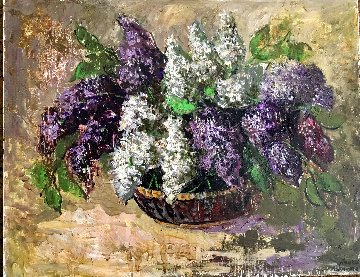 Lilacs 1998 28x22 Original Painting by Laura Avetisyan