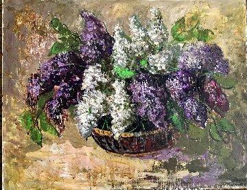 Lilacs 1998 28x22 Original Painting - Laura Avetisyan