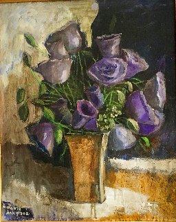 Flowers 21x18 Original Painting - Laura Avetisyan