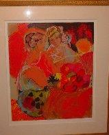 Women in Red 1990 Limited Edition Print by Lea Avizedek - 1