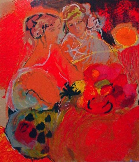 Women in Red 1990 Limited Edition Print by Lea Avizedek