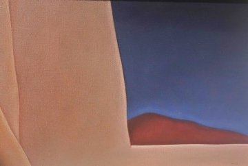 Ranchos Church With Hill No 1 1989 24x34 Original Painting - John Axton