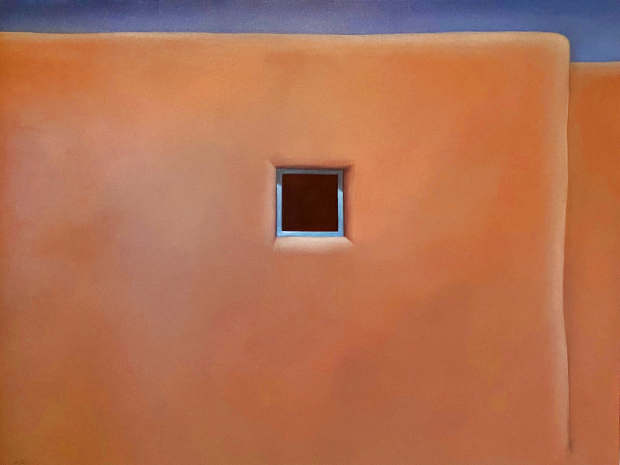 Pueblo Turquoise 1990 34x44 Super Huge Original Painting by John Axton