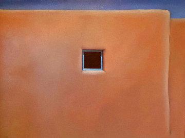 Pueblo Turquoise 1990 34x44 Huge Original Painting - John Axton