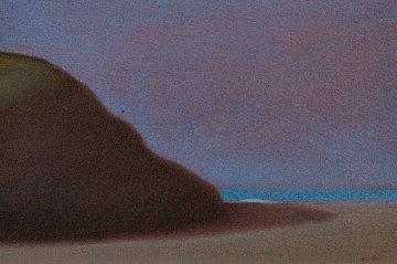 Sea Cliffs 1994 16x22 Original Painting - John Axton