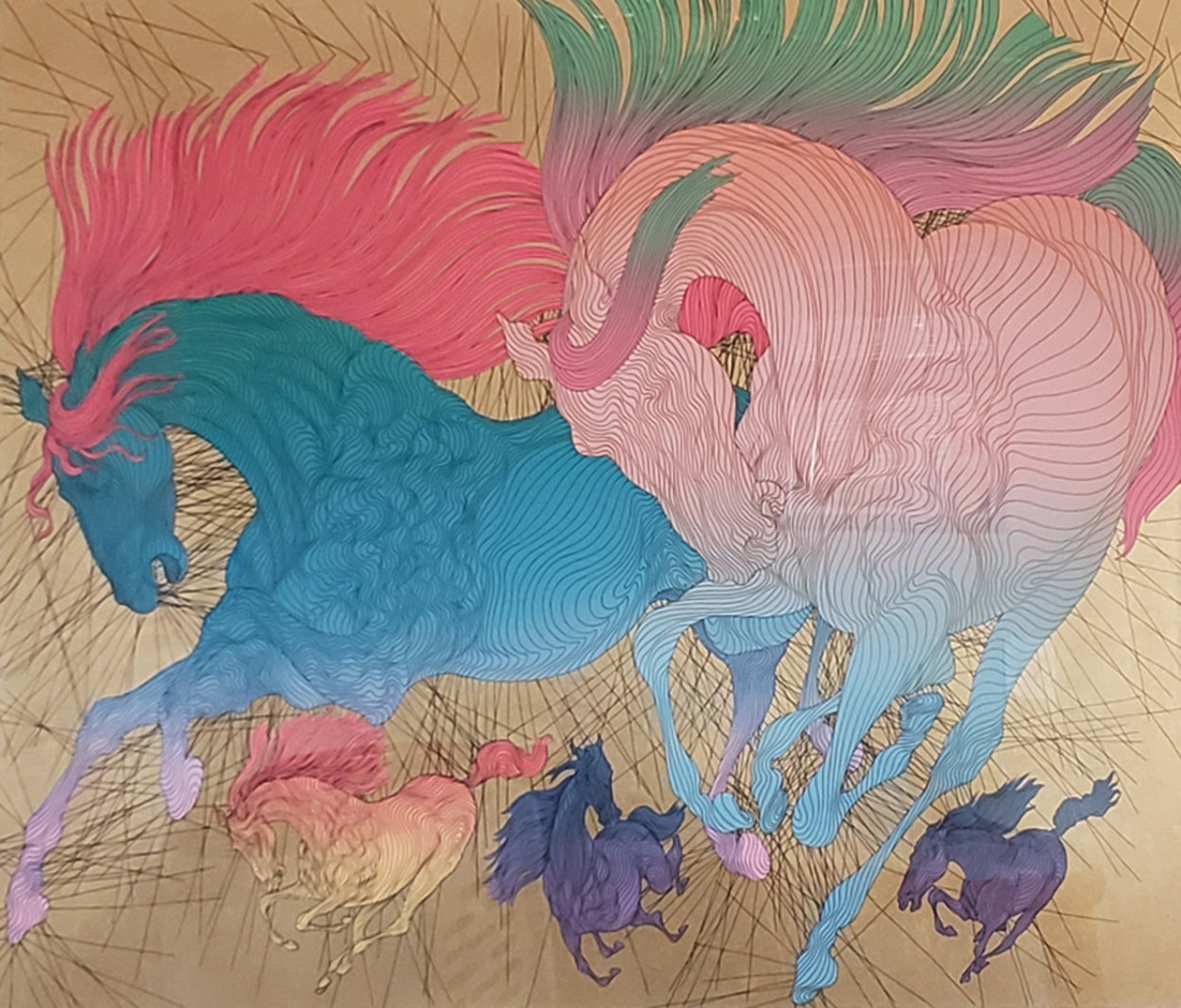 Progression 2005 36x45 Super Huge  Limited Edition Print by Guillaume Azoulay