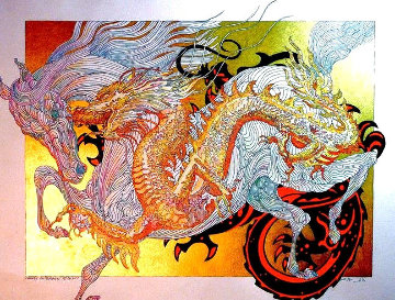 Year of the Dragon 2015 36x48 Super Huge  Limited Edition Print - Guillaume Azoulay