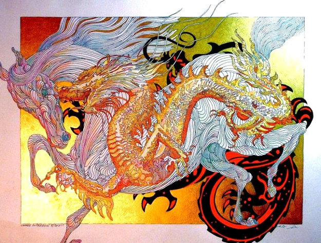 Year of the Dragon 2015 Limited Edition Print by Guillaume Azoulay