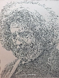 Jerry Garcia Drawing 2016 18x16 Drawing by Guillaume Azoulay