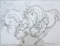 Sketch Pour Encounter Progression 2007 Drawing by Guillaume Azoulay - 0