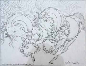 Sketch Pour Encounter Progression 2007 Drawing by Guillaume Azoulay