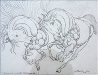 Sketch Pour Encounter Progression 2007 Drawing by Guillaume Azoulay - 4
