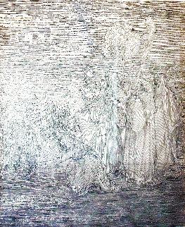 La Fille De Pharaon D'apres G.dore Etude Suplementaire 2004 32x28 Drawing - Guillaume Azoulay