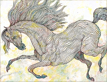 Essai Chrome Equus IV 2006 19x18 Works on Paper (not prints) - Guillaume Azoulay