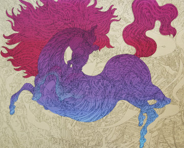 Illustrasted Horse 34x38 Limited Edition Print by Guillaume Azoulay