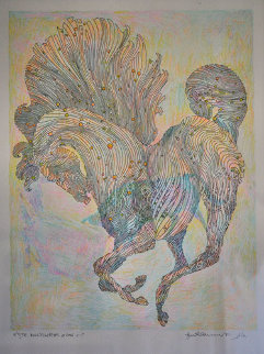 Etude Bull Fighter 2000 Works on Paper (not prints) by Guillaume Azoulay
