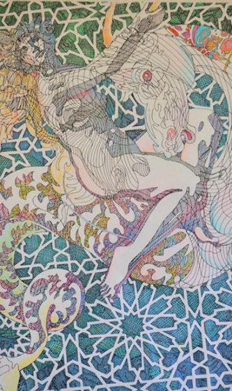 Zodiac: Capricorn RBC Drawing 2000 Works on Paper (not prints) by Guillaume Azoulay