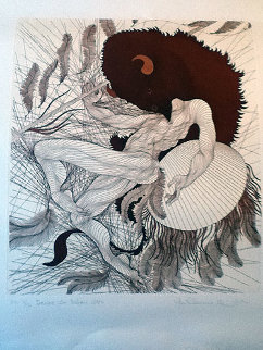 Dance Du Bison 1986 Limited Edition Print by Guillaume Azoulay