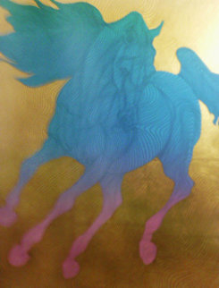 Horses Suite of 4 Serigraphs 2002 Limited Edition Print by Guillaume Azoulay