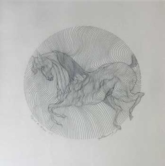 Equus Drawing 2002 Drawing by Guillaume Azoulay