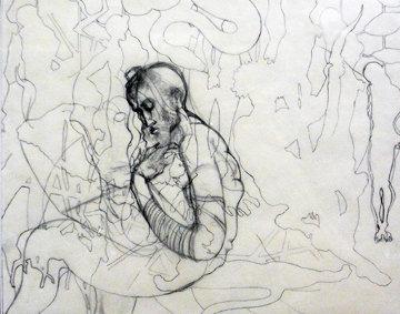 Etude Esau 94 Adac Drawing 1994 Drawing - Guillaume Azoulay