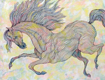Essai Chrome Equus IV Drawing 2006 Works on Paper (not prints) by Guillaume Azoulay