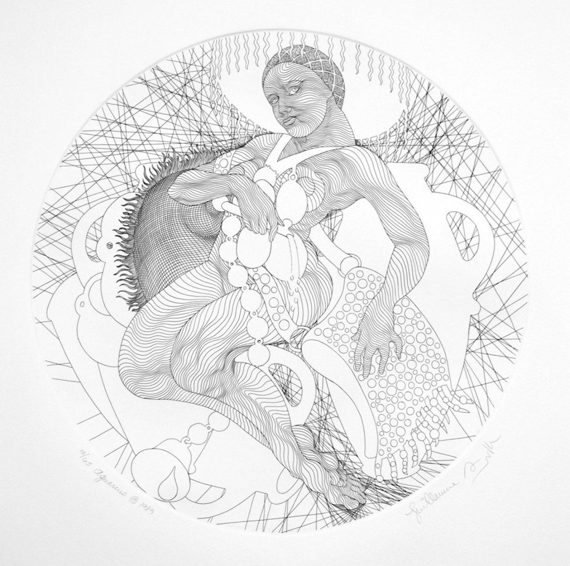 Zodiac: Aquarius  Black and White 1988  Limited Edition Print by Guillaume Azoulay