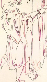 Ishmael Drawing 1994 23x16 Drawing - Guillaume Azoulay