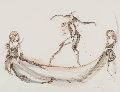 Promenade Sur Un Fil D'or 2003 30x37 Works on Paper (not prints) - Anne Bachelier