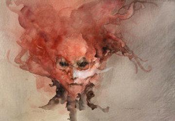 Le Masque De La Mort Rouge 2000 23x29 Works on Paper (not prints) by Anne Bachelier