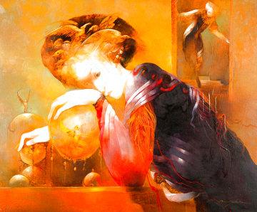 La Reveuse 2006 26x31 Original Painting - Anne Bachelier