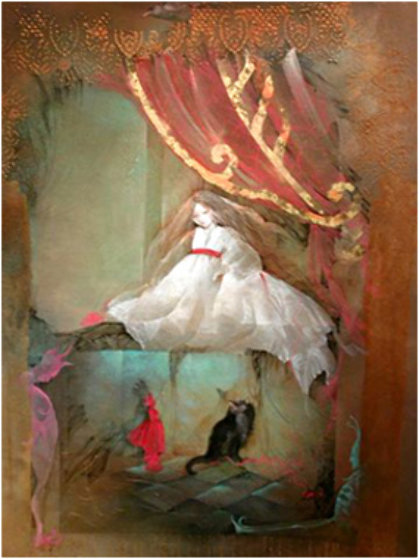 Waking 2005 47x37 Original Painting by Anne Bachelier