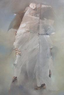 Limprecateur 75x38 Original Painting - Anne Bachelier