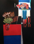 Anemones and Cyclamen 2000 Limited Edition Print - Walter Bachinski