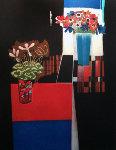 Anemone And Cyclamen 2000 Limited Edition Print - Walter Bachinski