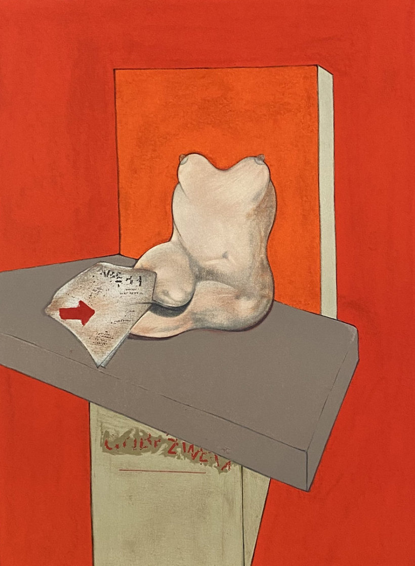 Study of a Human Body After Ingres 1984 Limited Edition Print by Francis Bacon