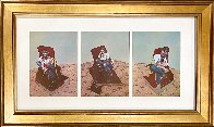 Three Studies For Portrait of Lucian Freud 1966 Limited Edition Print by Francis Bacon - 1
