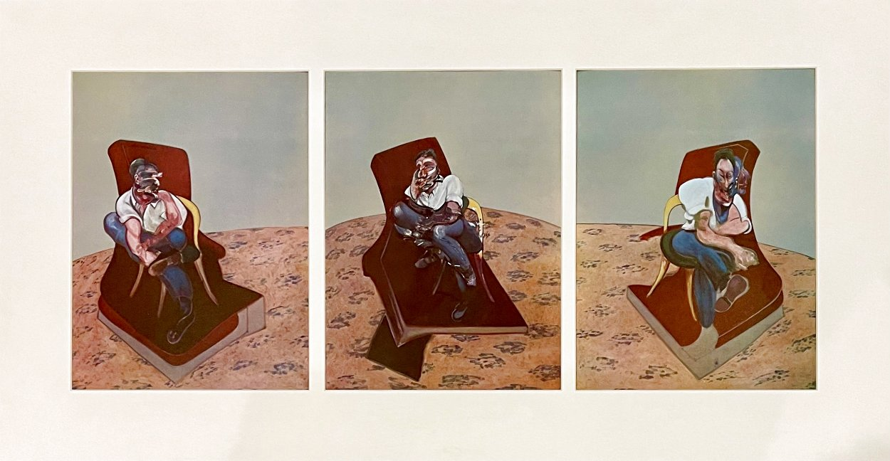 Three Studies For Portrait of Lucian Freud 1966 Limited Edition Print by Francis Bacon