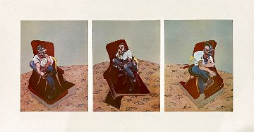 Three Studies For Portrait of Lucian Freud 1966 Limited Edition Print - Francis Bacon