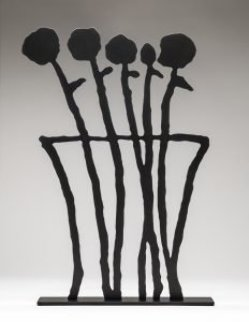 Black Flowers Sculpture 2019 26 in.  Sculpture - Donald Baechler