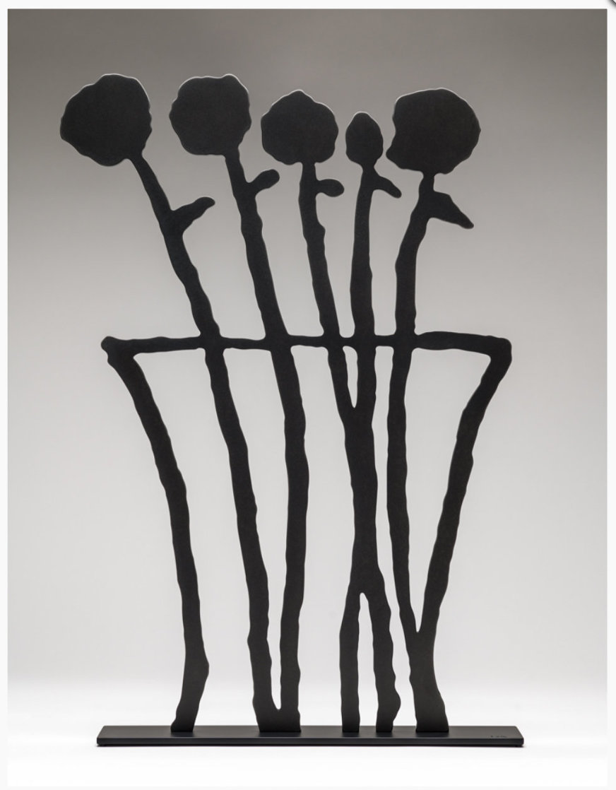 Black Flowers Sculpture 2019 26 in Sculpture by Donald Baechler