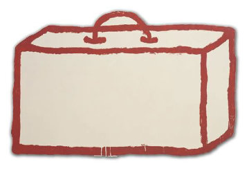 Suitcase on Alumimum 2003 Limited Edition Print - Donald Baechler