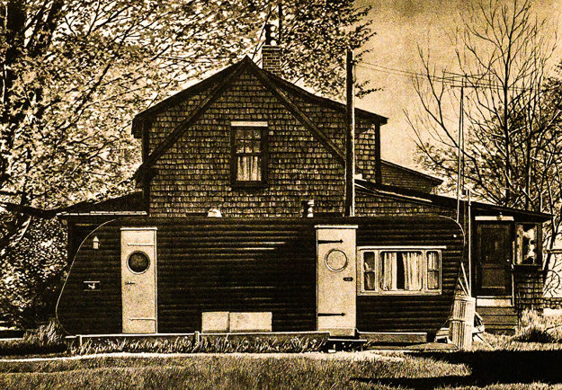 House With Trailer 1979 Limited Edition Print by John Baeder