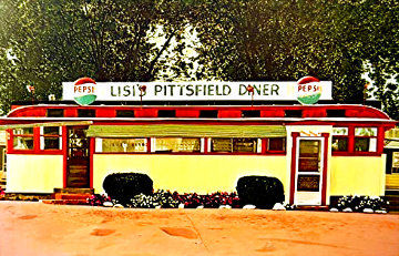 Lisi's Pittsfield Diner 1980 Limited Edition Print - John Baeder