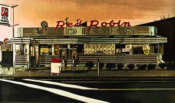 Red Robin 1980 Limited Edition Print - John Baeder