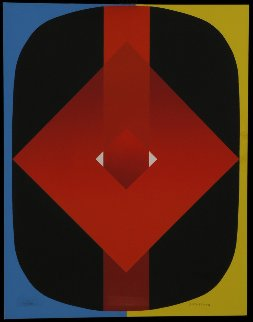 Untitled Silkscreen 1968 Limited Edition Print - Olle Baertling