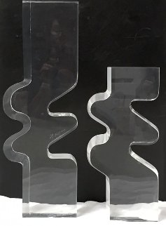 Untitled Acrylic 2 Piece Set Sculpture 1979 23 in  Sculpture - Bijan Bahar