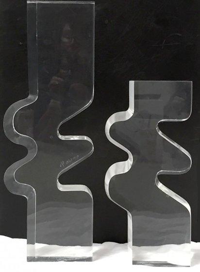 Untitled Acrylic 2 Piece Set Sculpture 1979 23 in  Sculpture by Bijan Bahar