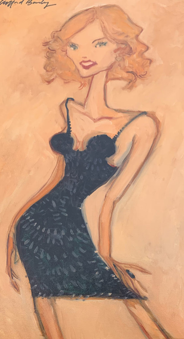 Kelly's Party Dress 2008 28x16 Original Painting by Clifford  Bailey